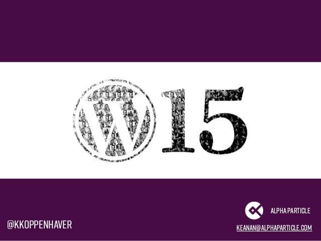 Advanced WordPress Tooling Slide 3