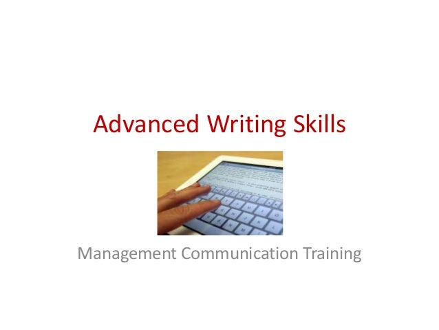 Writing skills training