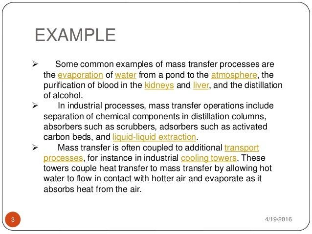 Advance In Mass Transfer In Food Application