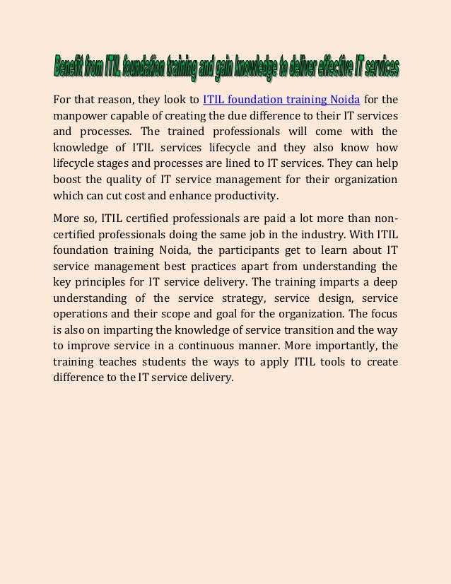 Get Skills And Knowledge To Deliver Effective It Services With Itil F