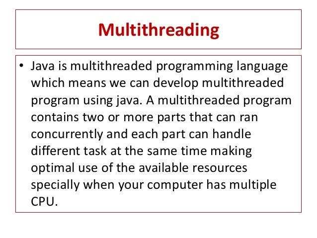 Writing multithreaded Java applications