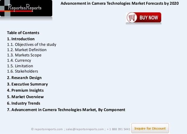 Advancement of camera