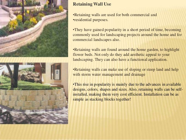 Advancement in retaining wall