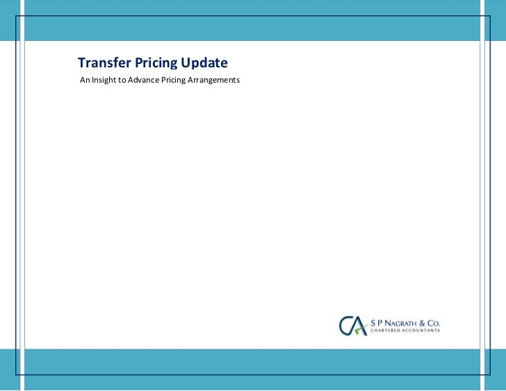 Transfer Pricing Update       ...