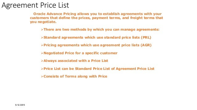 Oracle Advance Pricing Demo