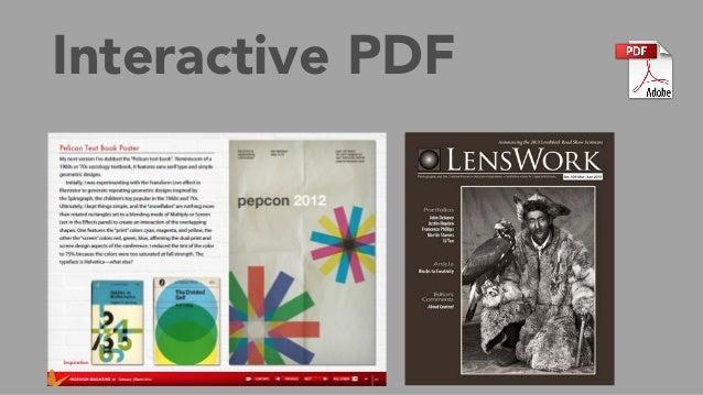 Interactive PDF Easy to create/export