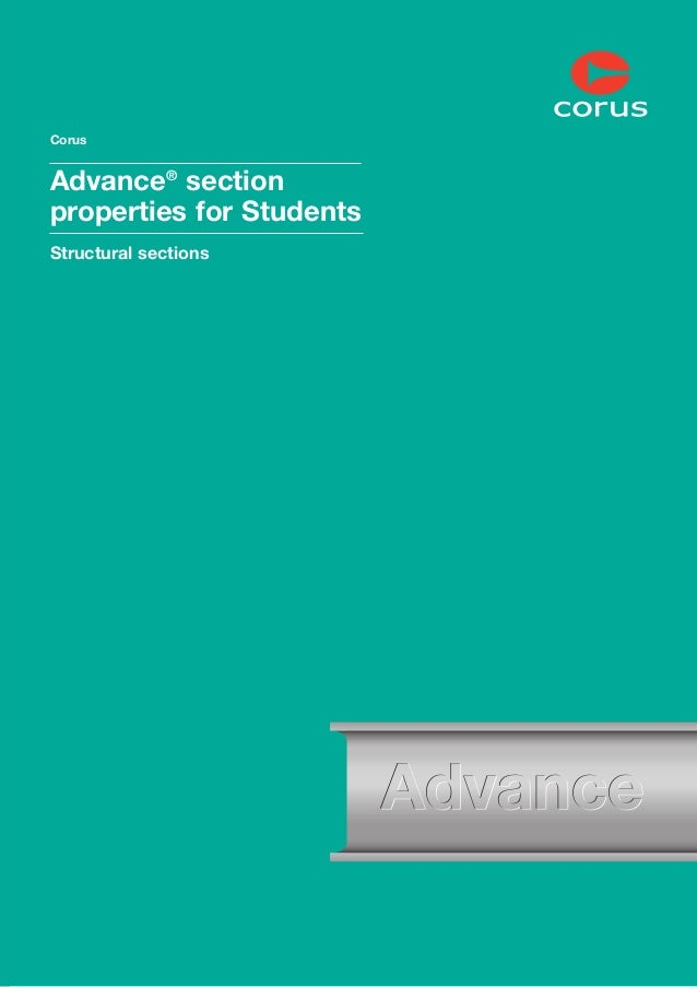 Corus  Advance® section properties for Students Structural sections  1