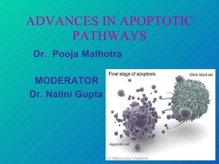 ADVANCES IN APOPTOTIC PATHWAYS <ul><li>Dr.  Pooja Malhotra </li></ul><ul><li>MODERATOR </li></ul><ul><li>Dr. Nalini Gupta ...