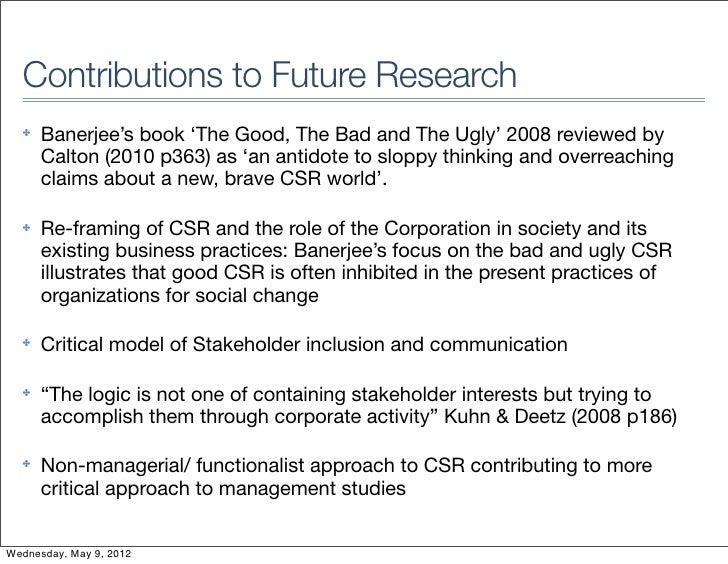 Debating CSR: Methods and Strategies