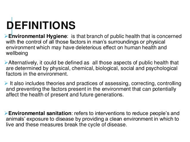 environmental hygiene Management of infectious disease in schools - september 2013 hse-22-chapter 6: environmental hygiene hygiene and the environment inadequate routine cleaning of the environment has been.