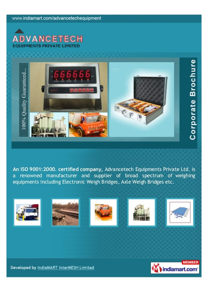 An ISO 9001:2000. certified company, Advancetech Equipments Private Ltd. isa renowned manufacturer and supplier of broad s...