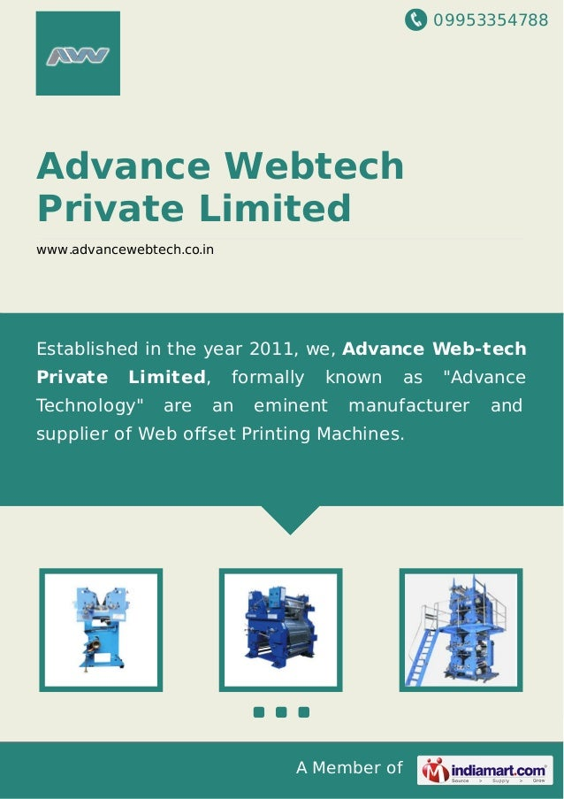 09953354788 A Member of Advance Webtech Private Limited www.advancewebtech.co.in Established in the year 2011, we, Advance...