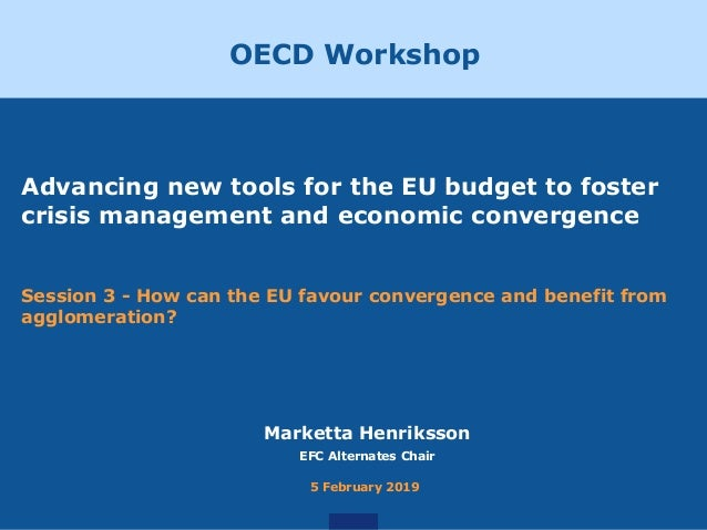 Advancing new tools for the EU budget to foster crisis management and economic convergence Session 3 - How can the EU favo...