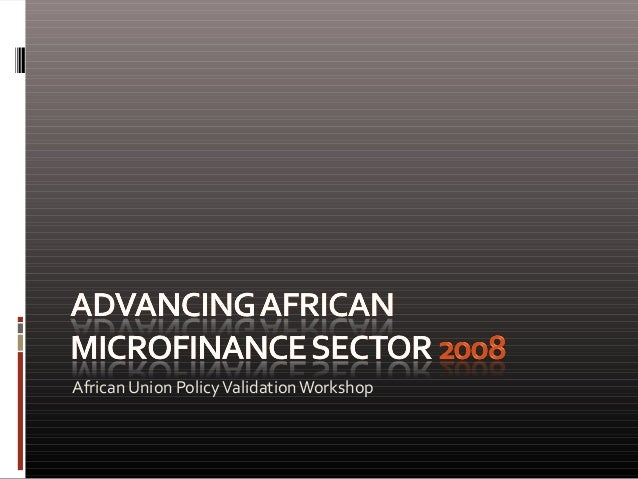 African Union Policy Validation Workshop