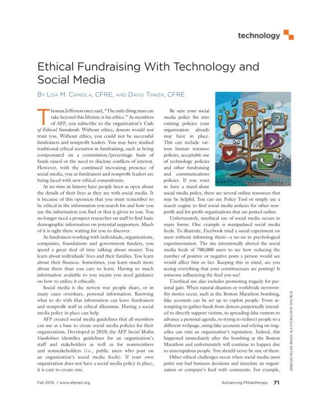 Ethical Fundraising With Technology And Social Media