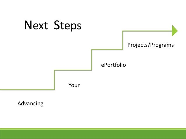 Advancing Your ePortfolio Projects/Programs Next Steps