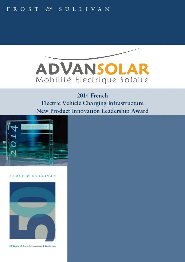 2014 French Electric Vehicle Charging Infrastructure New Product Innovation Leadership Award