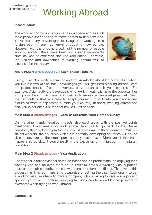 science advantages and disadvantages essay Advantages of technology  warfare technology nuclear technology science nuclear essay - the benefits  advantages and disadvantages of modern.