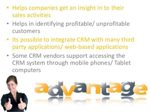 crm advantages and disadvantages Advantage and disadvantage of CRM