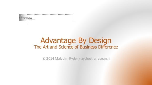 Advantage By Design The Art and Science of Business Difference © 2014 Malcolm Ryder / archestra research