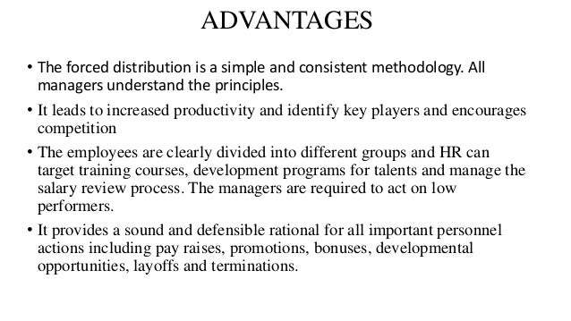 advantages and disadvantages of forced ranking method
