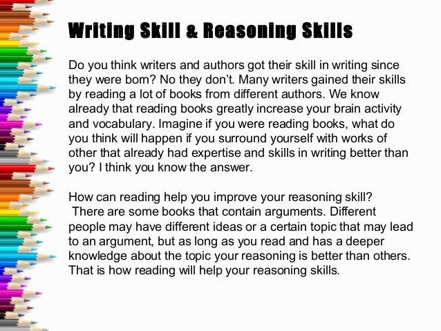 Advantages of reading and writing