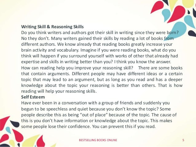 Write about the benefits of reading books
