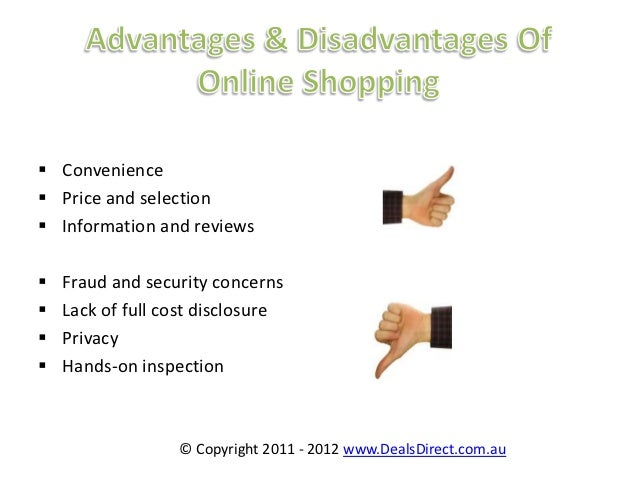 advantages and disadvantages of shopping online essay