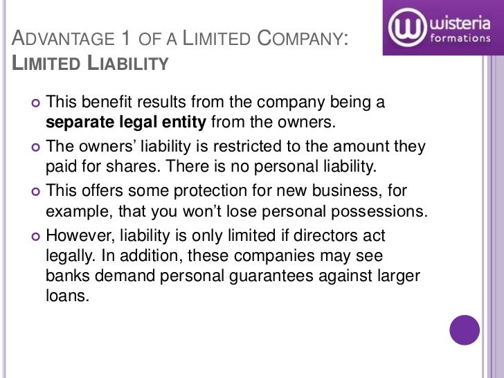 advantages and disadvantages of limited liability Disadvantages of a limited liability company building capital higher fees government regulation  advantages: limited liability: as the name implies,.