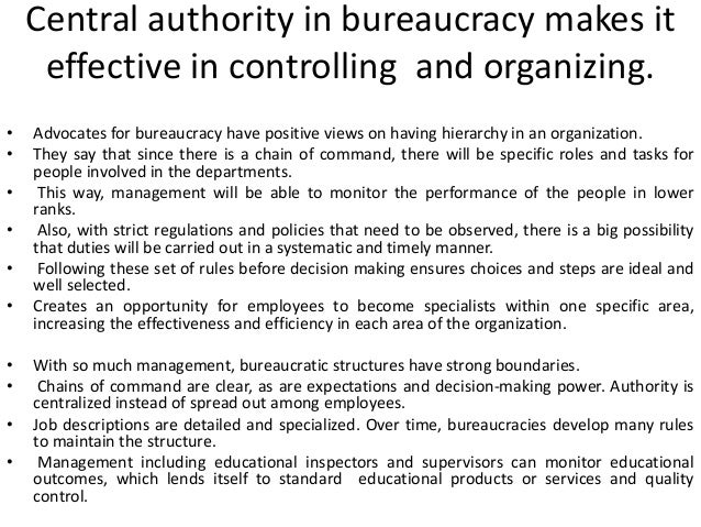 disadvantages of bureaucracy Economics of public organizational and bureaucracy have been greatly studied by western economists  advantages and disadvantages of each in the 20rs.
