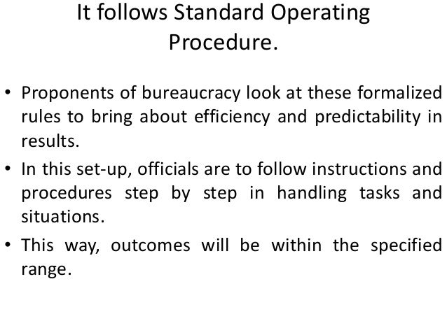 bureaucracy disadvantages The disadvantage to the organization is that individuals throughout the company are promoted to their level of incompetence a formal written record is another characteristic of bureaucracy (robbins etal, 2011.