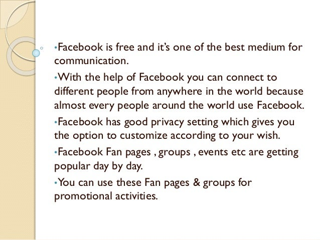 facebook advantages Get an answer for 'what are the advantages of using facebook in educationwhat are the advantages of using facebook in education' and find homework help for other.