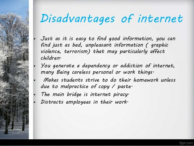 essay on drawbacks of internet 2 essay on disadvantages of internet internet marketing - 549 words advertising and seo are both parts of internet marketing that will work this article contain.