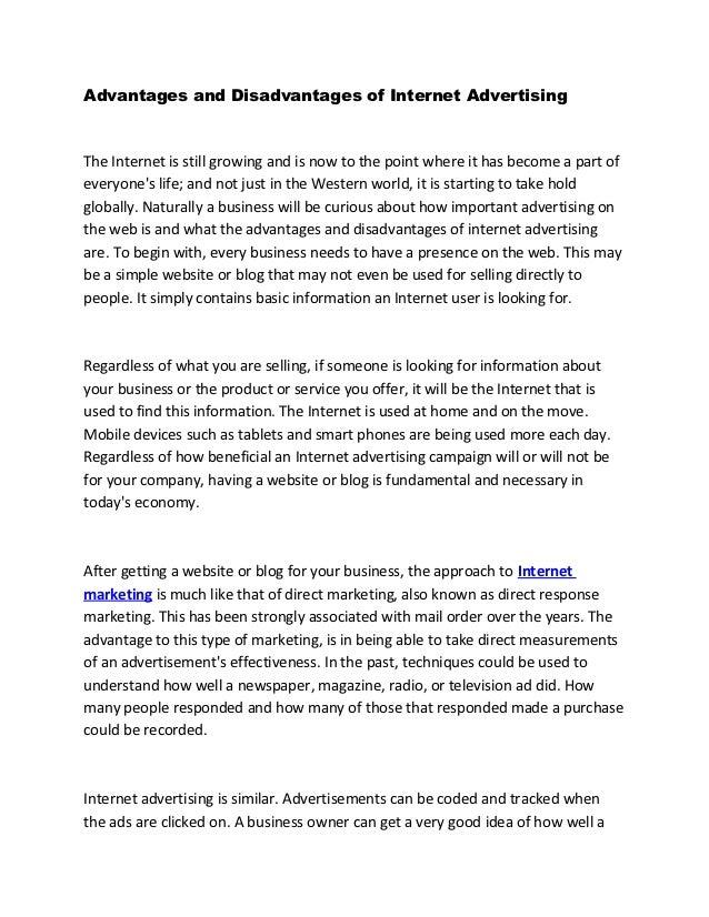 advertisement merits and demerits essay