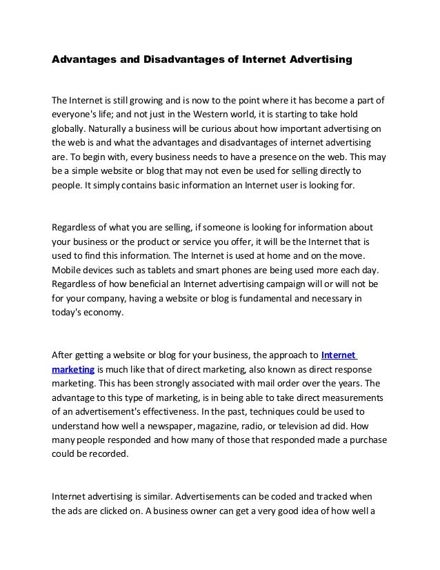 Internet marketing essay