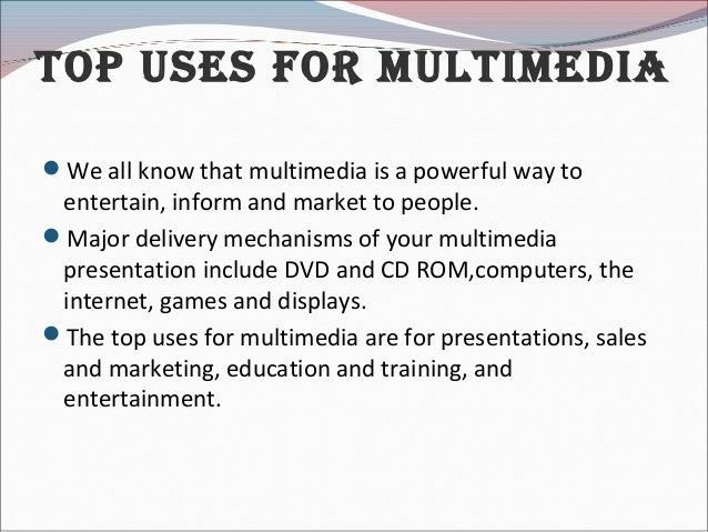 advantages and disadvantages of multimedia Advantages of youtube  youtube is same as other site which has the advantages and disadvantages for the good side or advantages side of youtube there are benefit to all gender and ages.