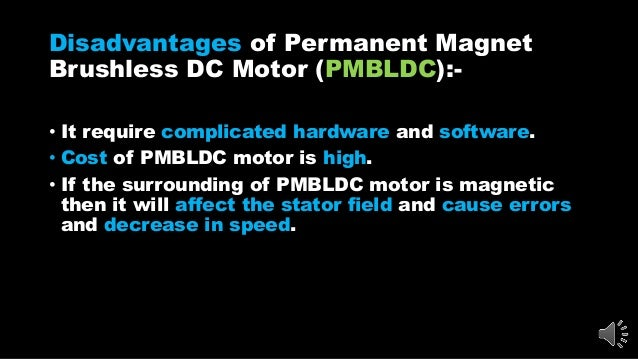 brushless dc motor advantages and disadvantages