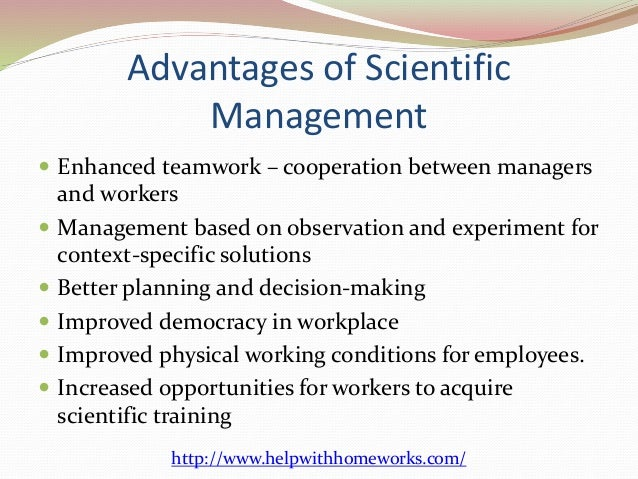 importance of scientific management pdf