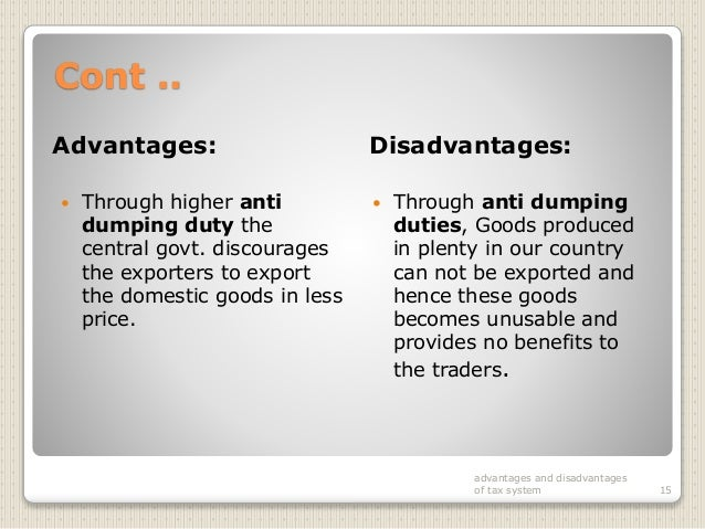advantages and disadvantages of taxation pdf