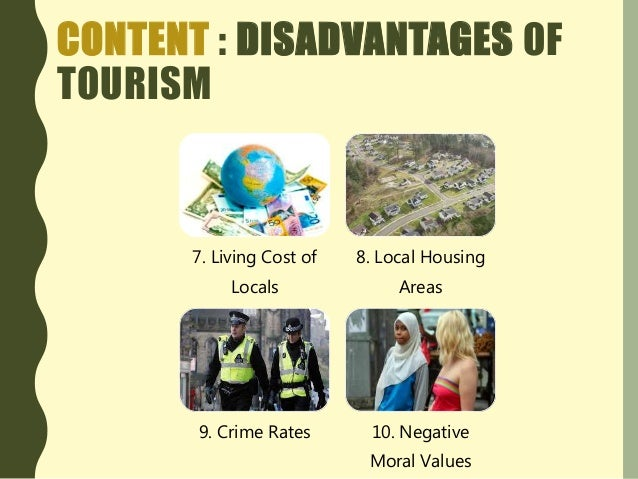disadvantages of tourism