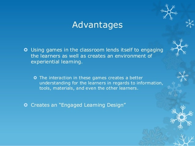 advantages and disadvantages of games Video games - advantages and disadvantages 1 video games advantages and disadvantages 2 advantages to develop skills that children need for the learning process to stimulate children's imagination to be good and enjoyable entertainment to be challenging and fascinating to play different characters in different environments.