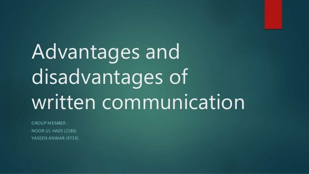 adv and disadvantage of communication sysytem