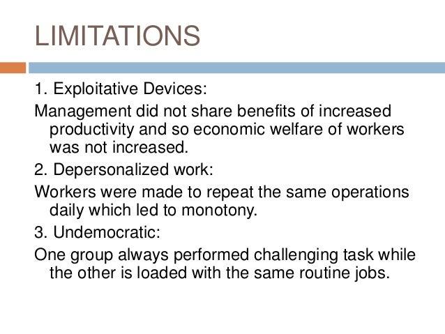 limitations of scientific management