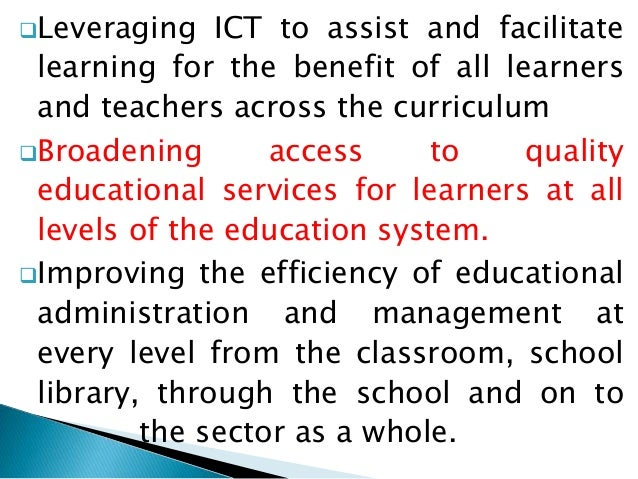 Advantages And Limitations Of Ict