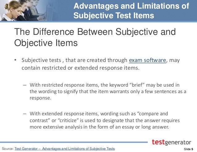 Essay Test: Types, Advantages and Limitations | Statistics