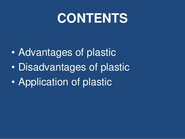 plastic advantages and disadvantages in hindi Plastic advantages and disadvantages in hindi advantages of total quality management (tqm) improves reputation - tqm programs have the advantage of improving corporate as well as product reputations in the marketplace, because errors and defective products are discovered much more rapidly than under a non-tqm system, and often before they are ever sent to market or found in the hands of the.