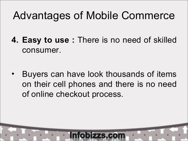 Advantages & disadvantages of mobile commerce