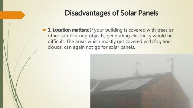 Advantages Amp Disadvantages Of Solar Panels