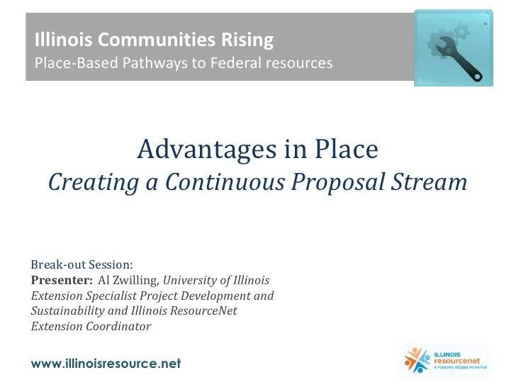 Advantages in Place: Federal Funding
