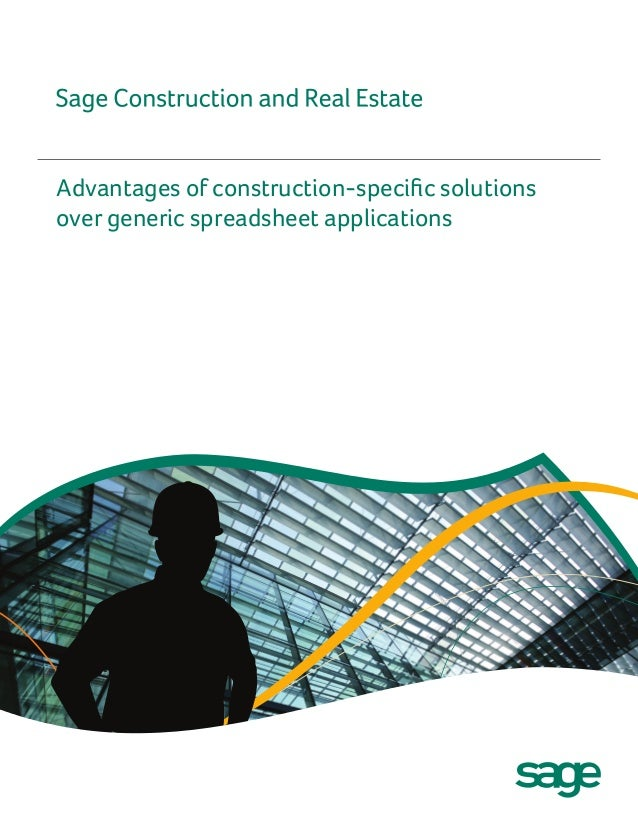 Advantages of construction-specific solutionsover generic spreadsheet applications